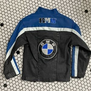 BMW kids leather jacket size 14